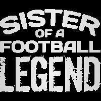 Stolze Schwester eines Fußball-Spieler-Legenden-Geschenks