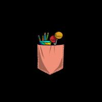 Süßigkeiten in der Brusttasche