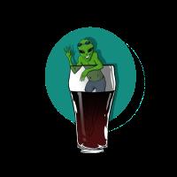 Alien im Getränk