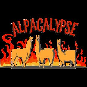 Alpaka Tierliebhaber lustig Alpacalypse Comic