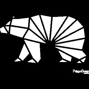 Geometrischer Bär minimal stylisch Hipster Tier