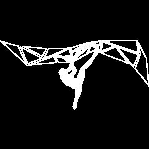 kletterer geometrisch weiss
