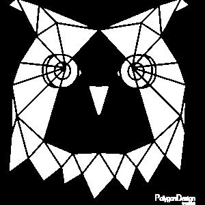 Geometrisch Eule minimal abstrakt schwarz und weis
