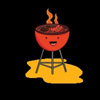 Grill mit Wurst und Steak - Grillmeister Geschenk