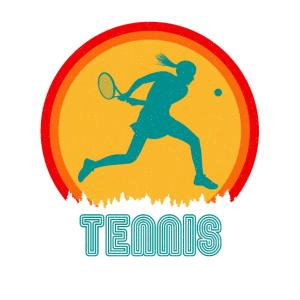 Tennis Tennisspieler Retro Frau 60er