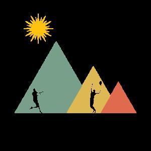 Tennis Tennisspieler Berg und Sonne