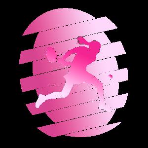 Tennis Tennisspieler Pink Frau Dynamisch