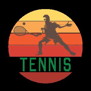 Tennis Tennisspieler Retro Mann Bunt