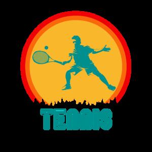 Tennis Tennisspieler Retro Mann 60er