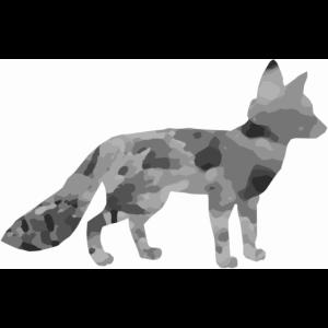 Fuchs im Quadrat Retro Druck Sytle