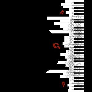cooles Klavier Piano Flügel Geschenk