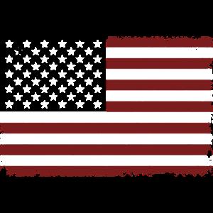 USA american flag banner - Flagge - Shirt