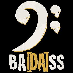 Badass Bassgitarre Bassschlüssel Geschenk Bassist