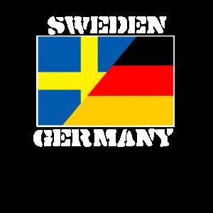 Schweden Deutschland,Germany Sweden ,Flagge Shirt