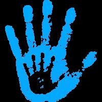 Blau Babys Handabdruck