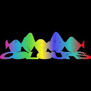 Colours Farben Typografie Grafik Farbverlauf