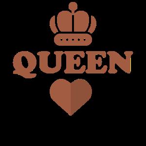 Dame König Kronen Herz Pik Hochzeitsgeschenk