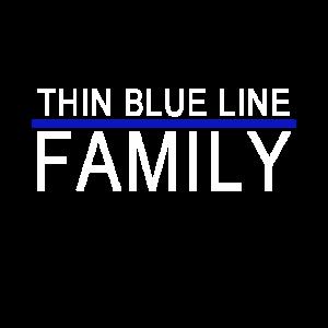 Thin Blue Line - Family - mit blauer Linie