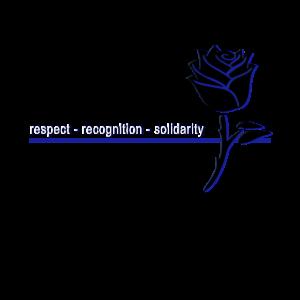 Thin Blue Line - Rose mit blauer Linie
