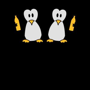 Betrunken Saufen Party Crew Team 2 Pinguine