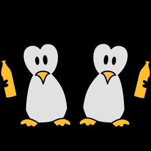 Betrunken Saufen Party Team 2 Pinguine