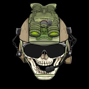 Army Totenkopf mit Taktischer Ausrüstung