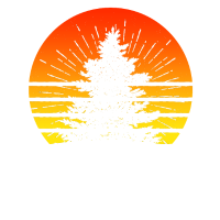 Retro Sun Minimalist Pine Tree T Shirt