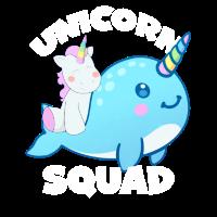Unicorn Ride Narwhal Unicorn Squad T Shirt