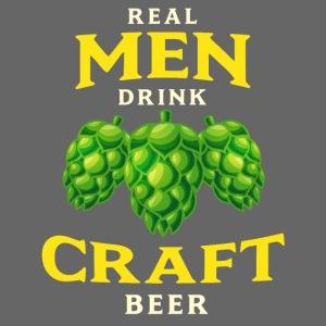 Real men drink craft beer