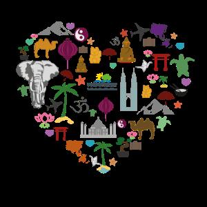 Ein Herz für Reisen