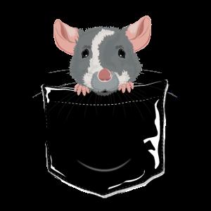 Maus 2 in dunkler Tasche | Fun-Shirt | Geschenk