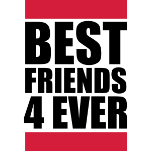 Best Friends 4 Ever Logo Design