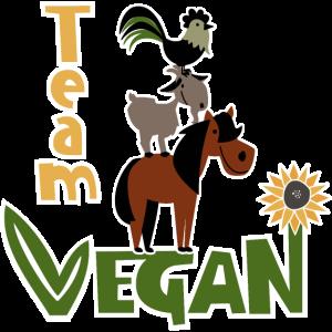Team Vegan Lustiger Veganer Spruch niedliche Tiere