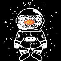 Astronaut mit Goldfisch