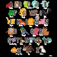 Alphabet Tiere Einschulung Lehrer