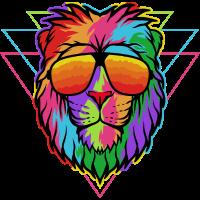 Der bunte Vektor Löwe