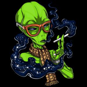 Außerirdische Weltraum-Hipster-UFO-Galaxie