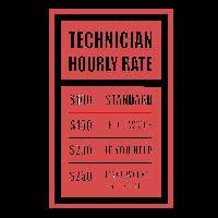 Technician Hourly Rate Techniker Monteur