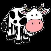 Kuh Comic Süß Geschenk