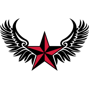 Nautic Stern Flügel Star Schutz Symbol Marine