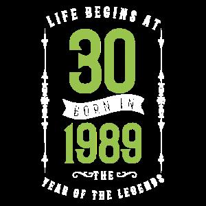 Geburtstag 30 Jahre 1989