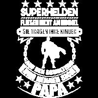 Superpapa Papa Superhelden fliegen nicht Vatertag