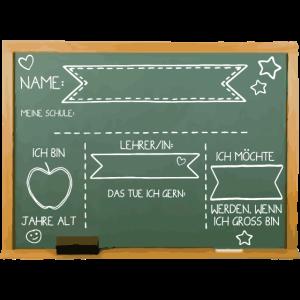 Einschulung Tafel Kindergarten Klasse Schule