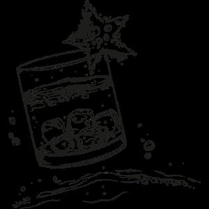 Drink Wasser Schnaps Eiswürfel Party