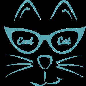 Cool Cat Katze mit Brille