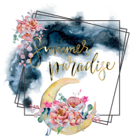 Summer Paradise - Watercolor und Gold Blumen