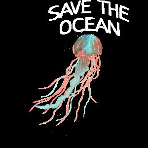 Qualle rettet Ozean Fische Meer Pazifik