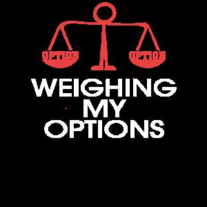 Lustige Wahl, die meine Optionen wiegt Design rot