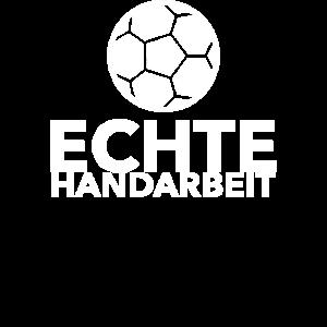 Echte Handarbeit Handball lustiger Spruch Geschenk
