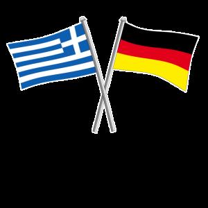 Griechenland Greece Deutschland Flagge Geschenk